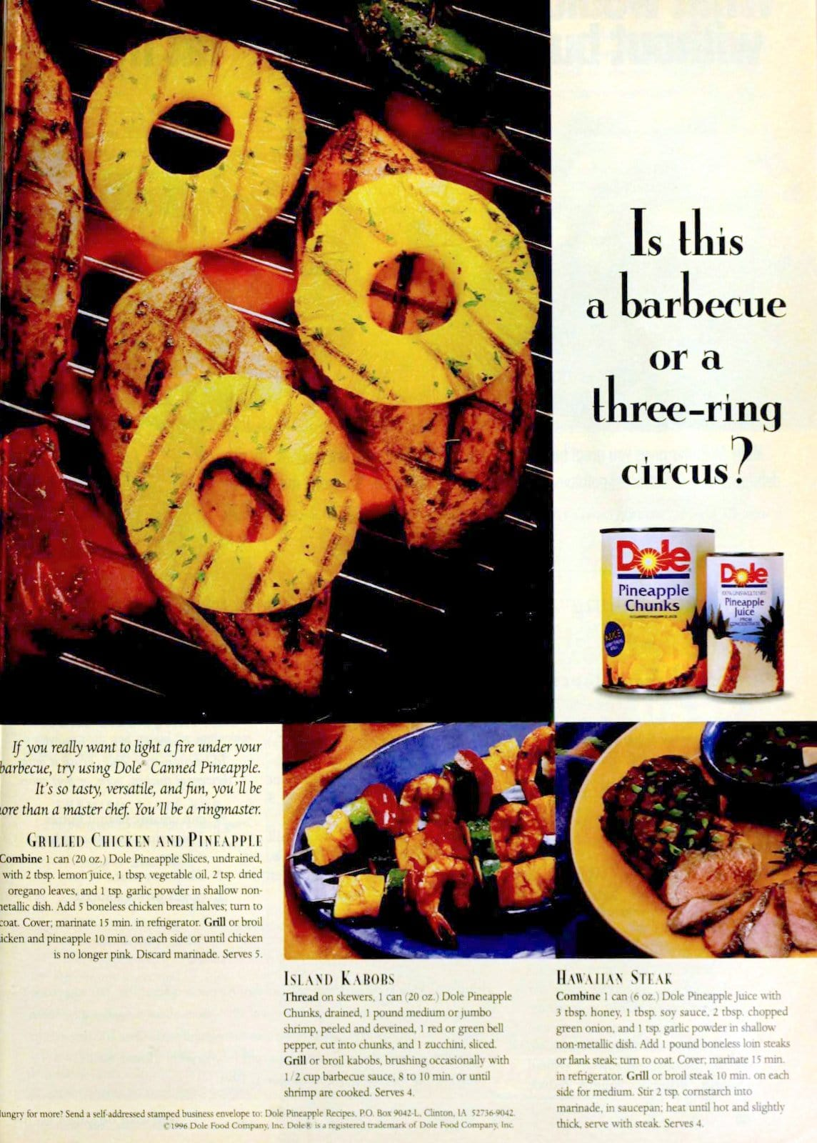 Grilled pineapple recipes (1996)