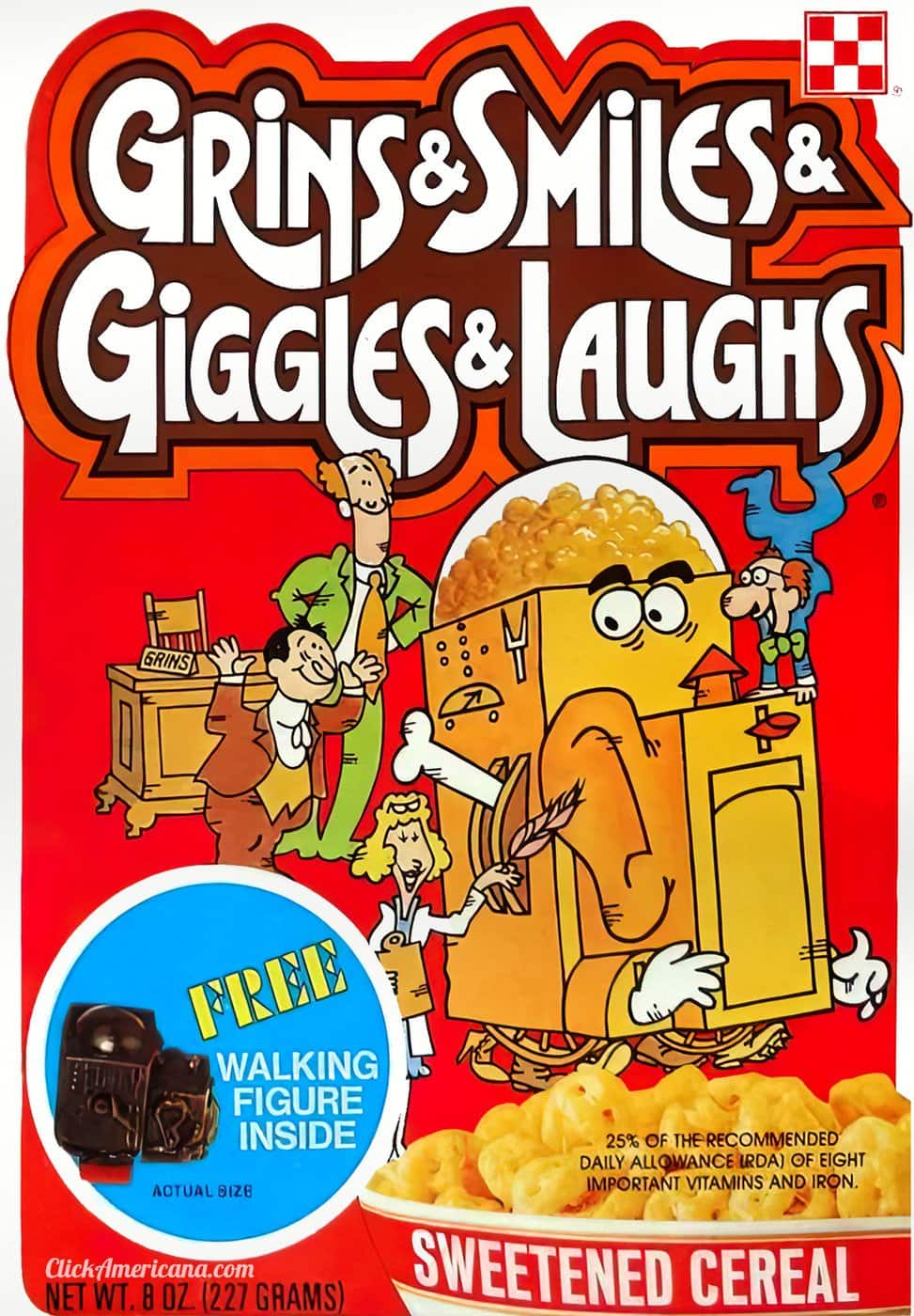 Grins and Smiles and Giggles and Laughs Cereal from Ralston (1976)