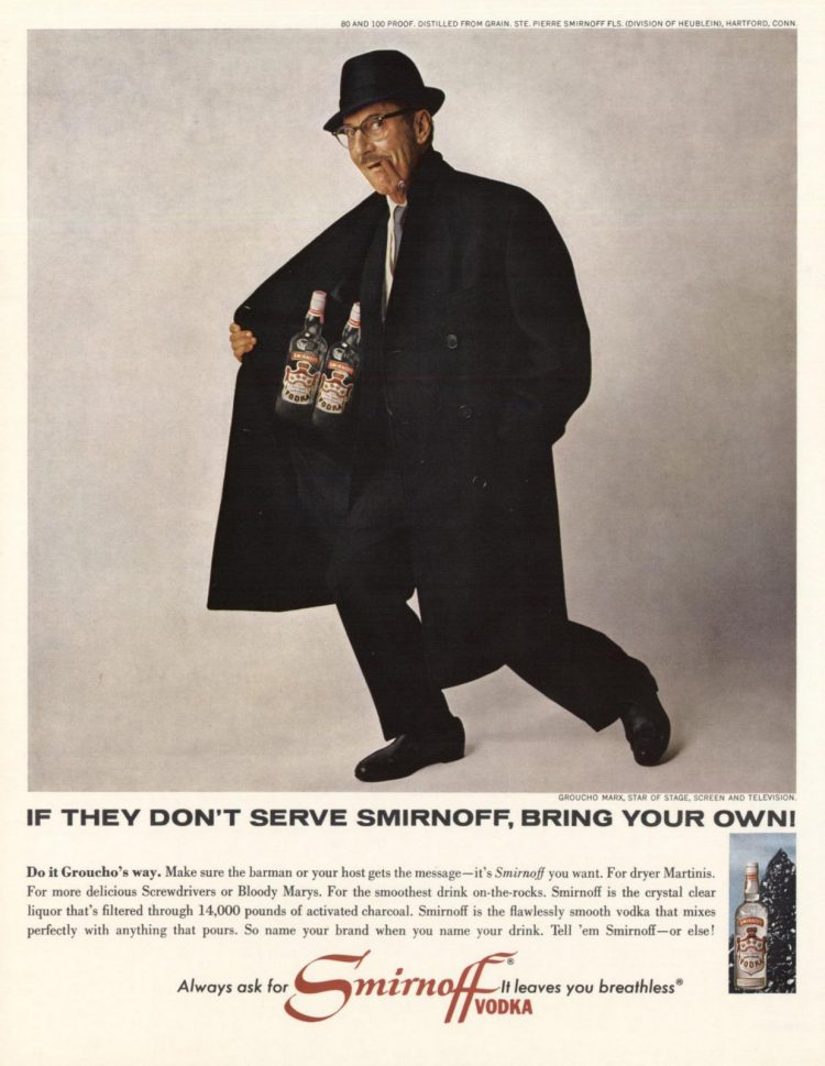 Groucho Marx for Smirnoff 1965