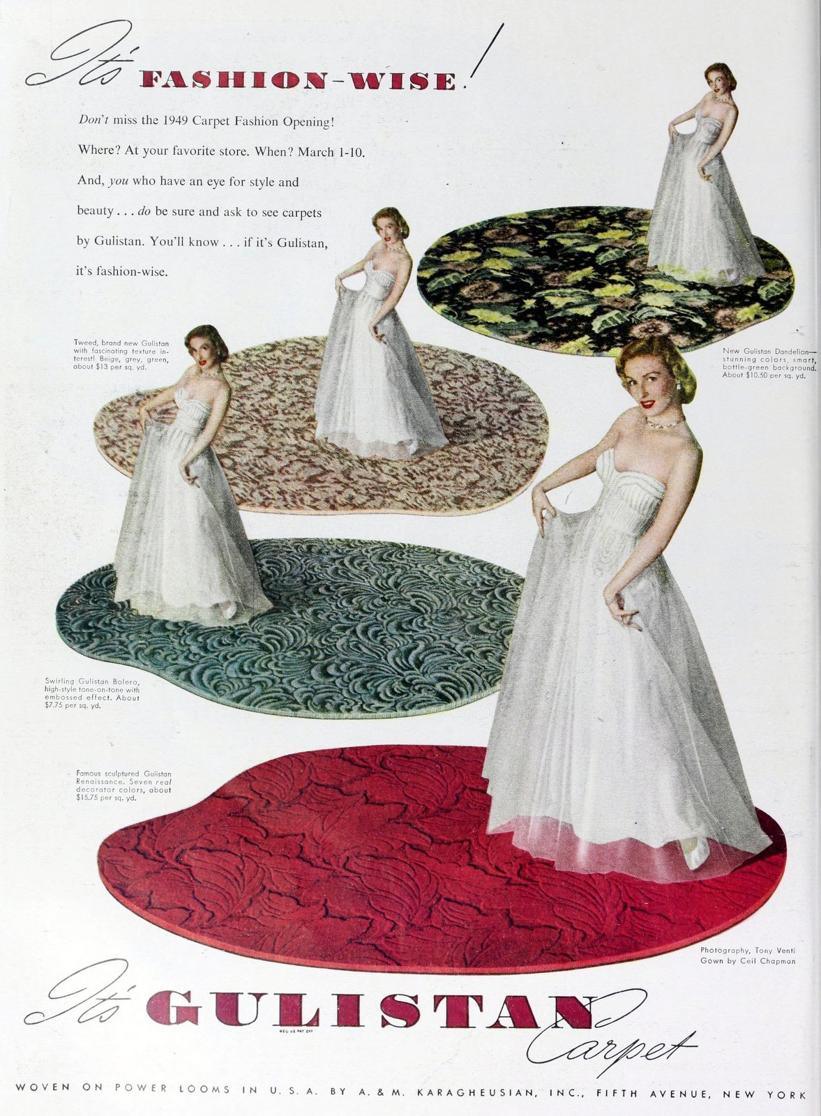 Gulistan fashion carpets from 1949