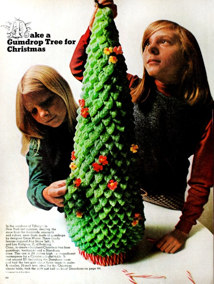 Gumdrop Christmas tree - craft from 1966