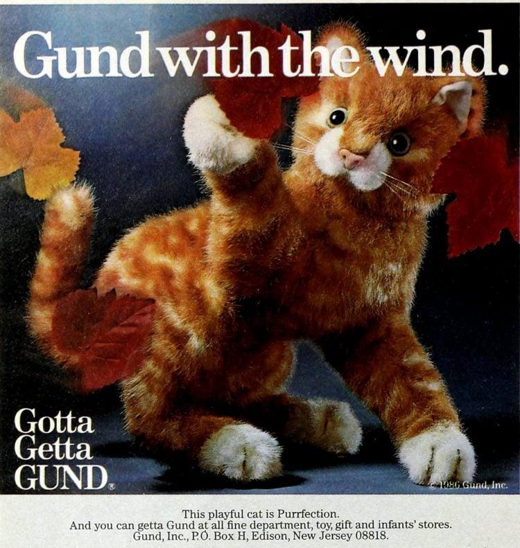 Gund Purrfection cat animal plushie toy (1987)