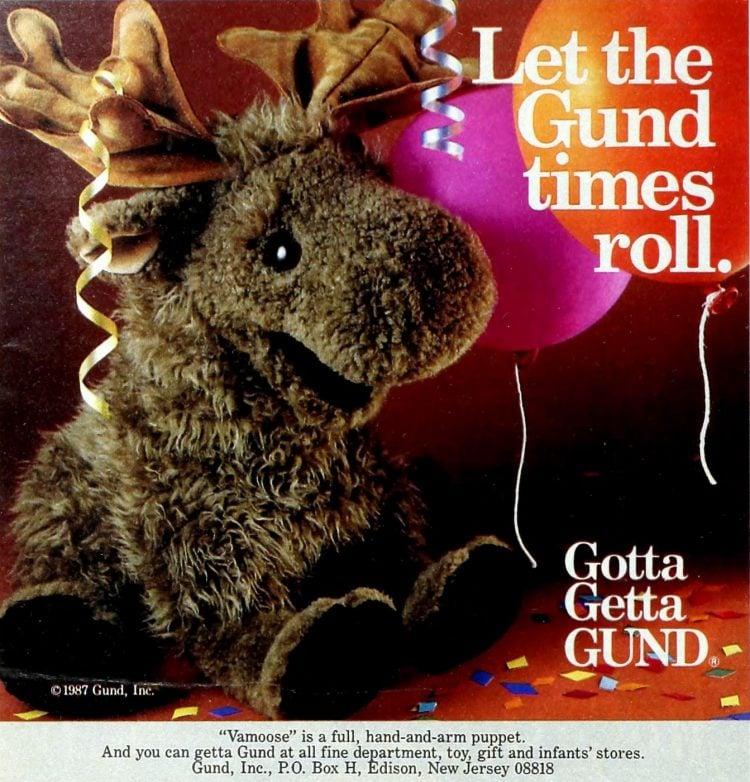 Gund Vamoose moose animal plushie (1987) 2