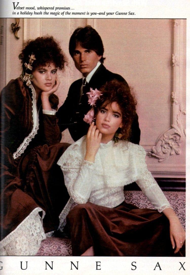 Gunne Sax ad 1982