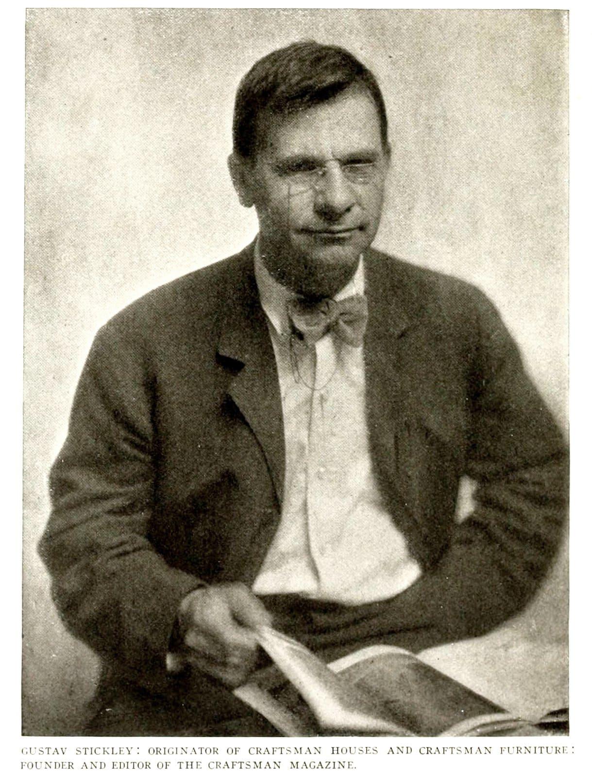 Gustav Stickley portrait - 1900s