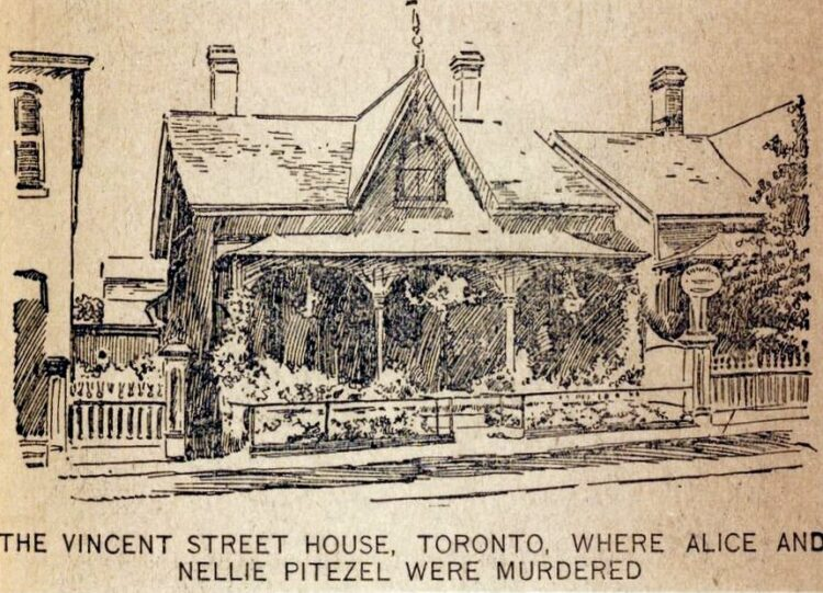 H H Holmes murders - Vincent Street house in Toronto - scene of killings