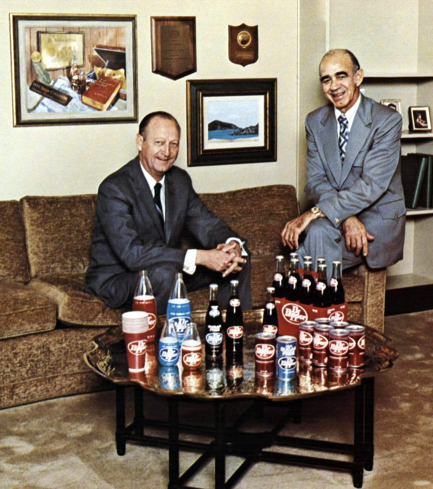 H S Billingsley, Chairman of the Board (left) and W W Clements, President and CEO of Dr Pepper (1971)