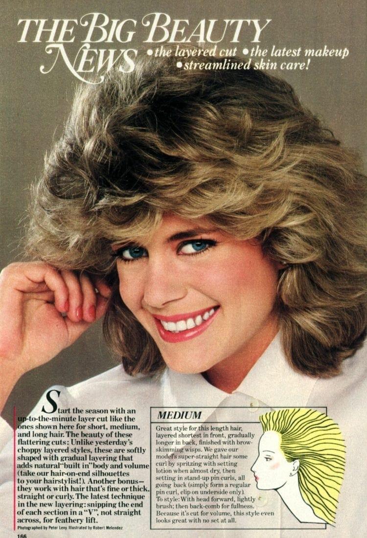Medium-length vintage hairstyle