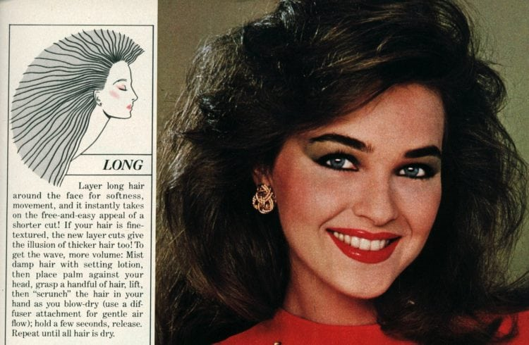 Long hair style tips from the '80s