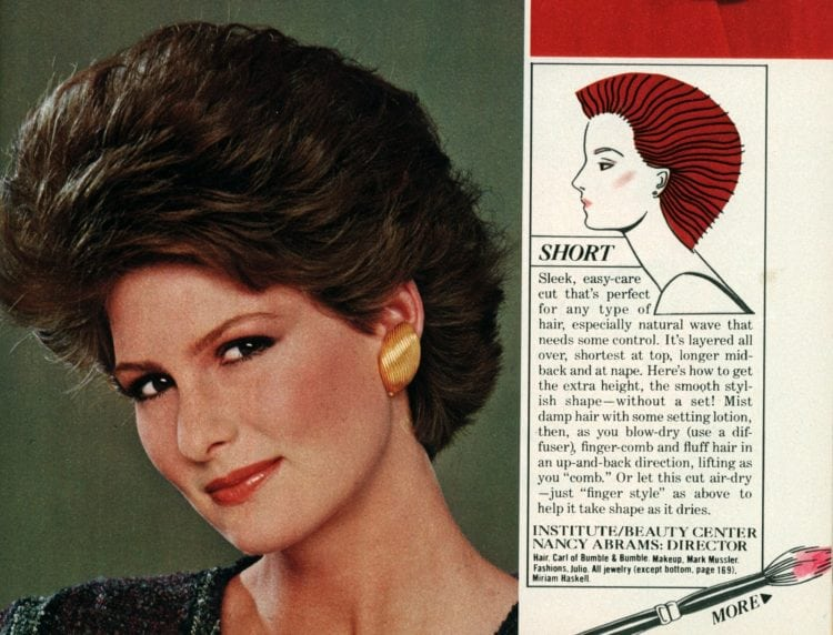 Short hair style tips from the eighties