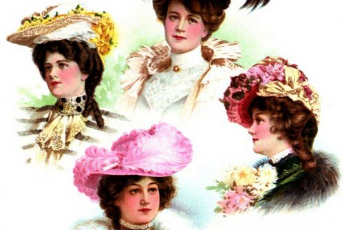 Hairstyles for women from 1902