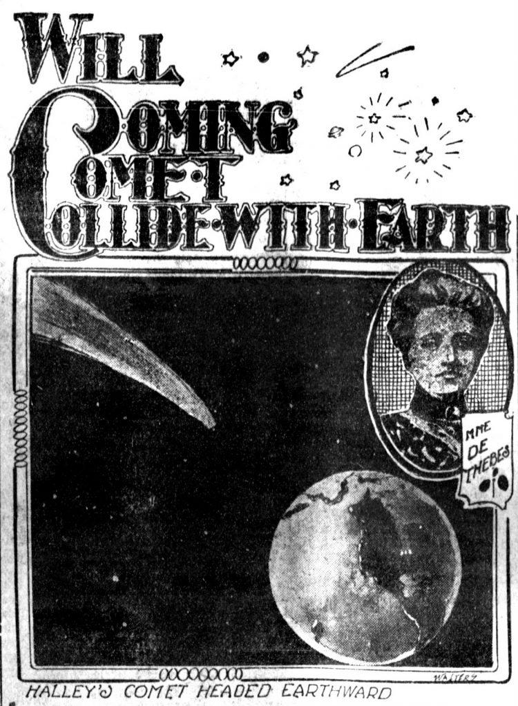 Halley's Comet fears 1910