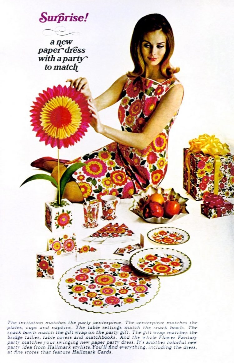 Hallmark paper dresses from 1967