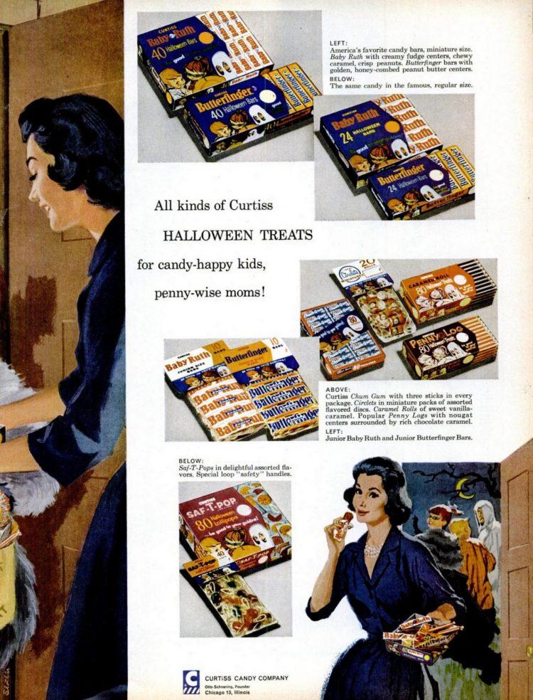 Halloween Curtiss candy - 1960