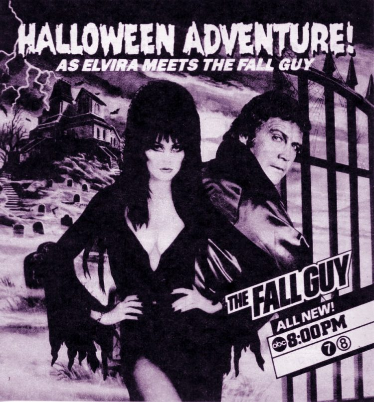 Halloween Fall Guy with Elvira
