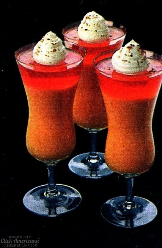 Halloween Jell-O desserts Pumpkin Parfaits in glasses