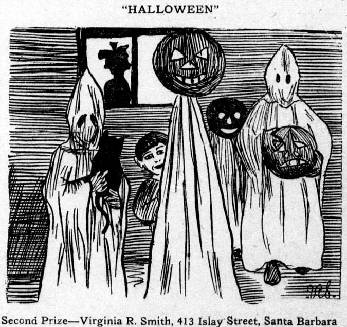 Halloween costumes drawing from 1910