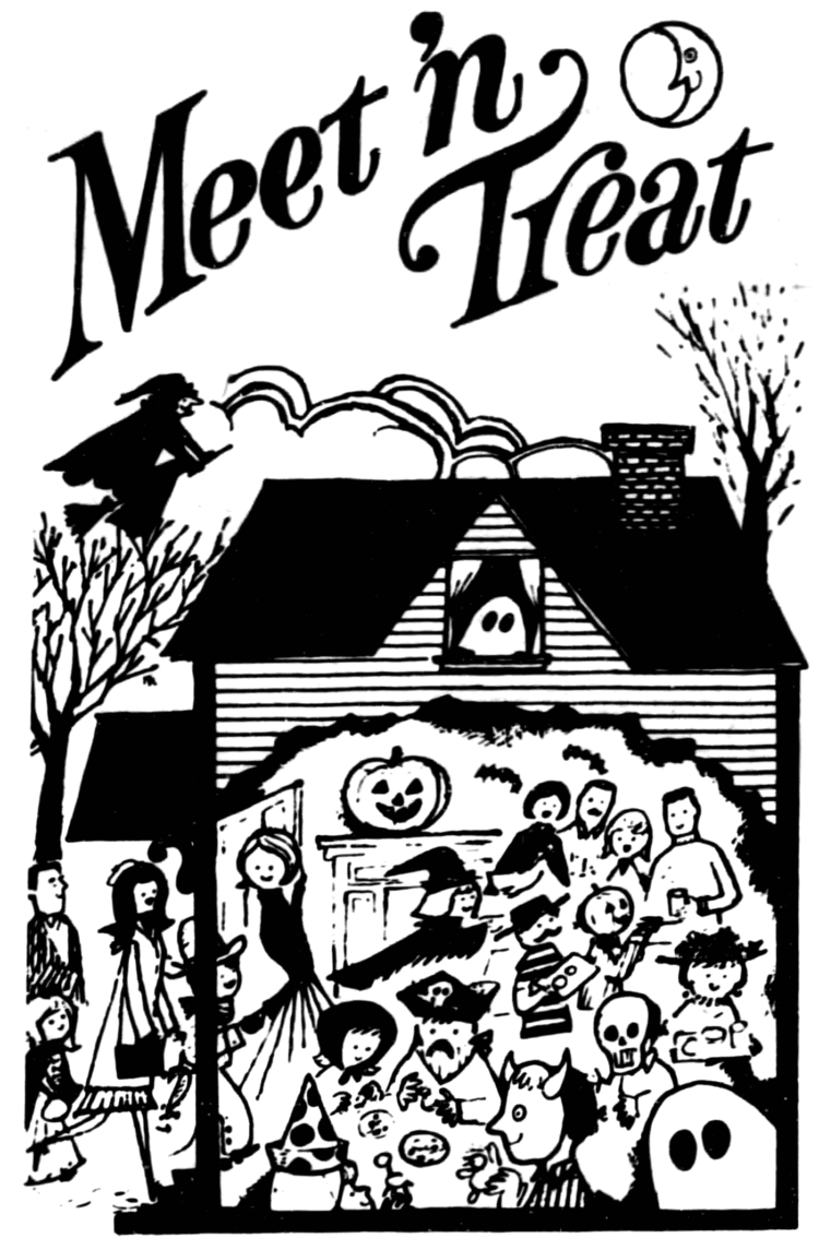 Have a safe, kid-friendly Meet 'n Treat retro Halloween party - 1973