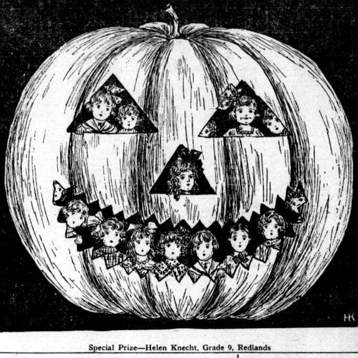 Halloween pumpkin - Jack o Lantern from 1910