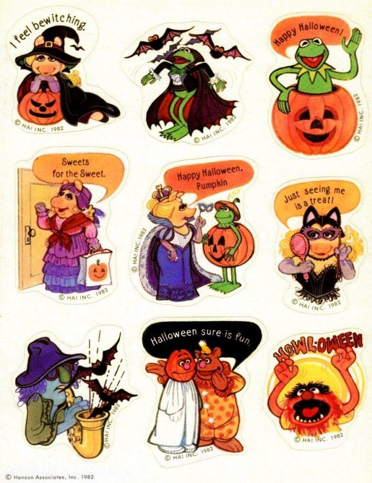 Halloween stickers with Muppets-Hallmark-1982