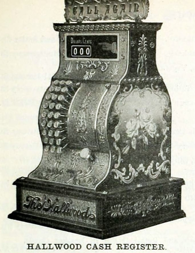 Hallwood cash register from 1899