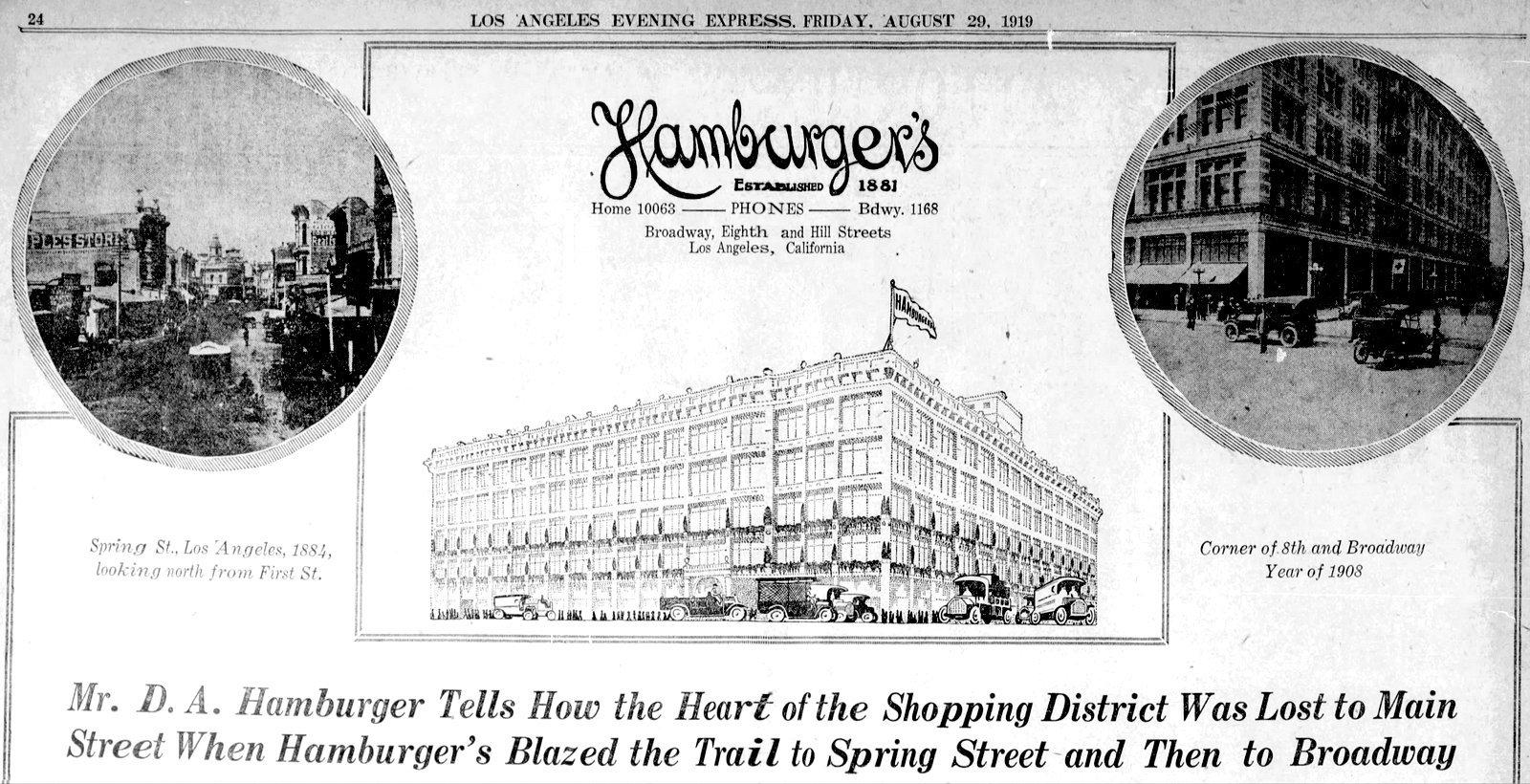 Hamburger Department Store - Los Angeles (1919)