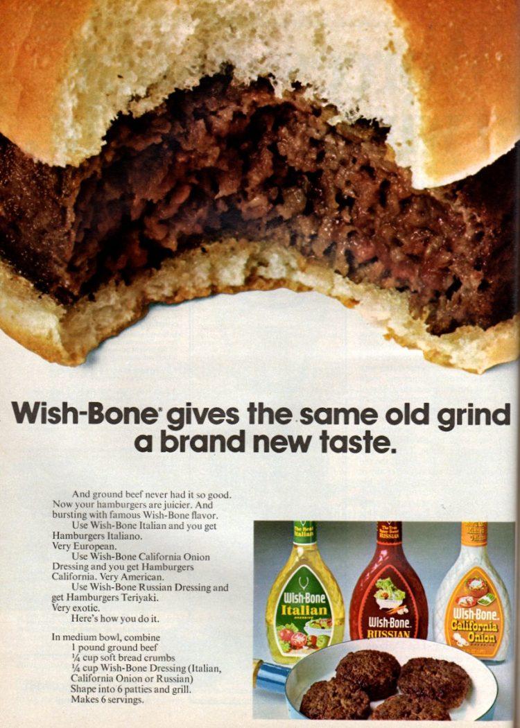 Hamburgers Italiano, California & Teriyaki recipes (1972)