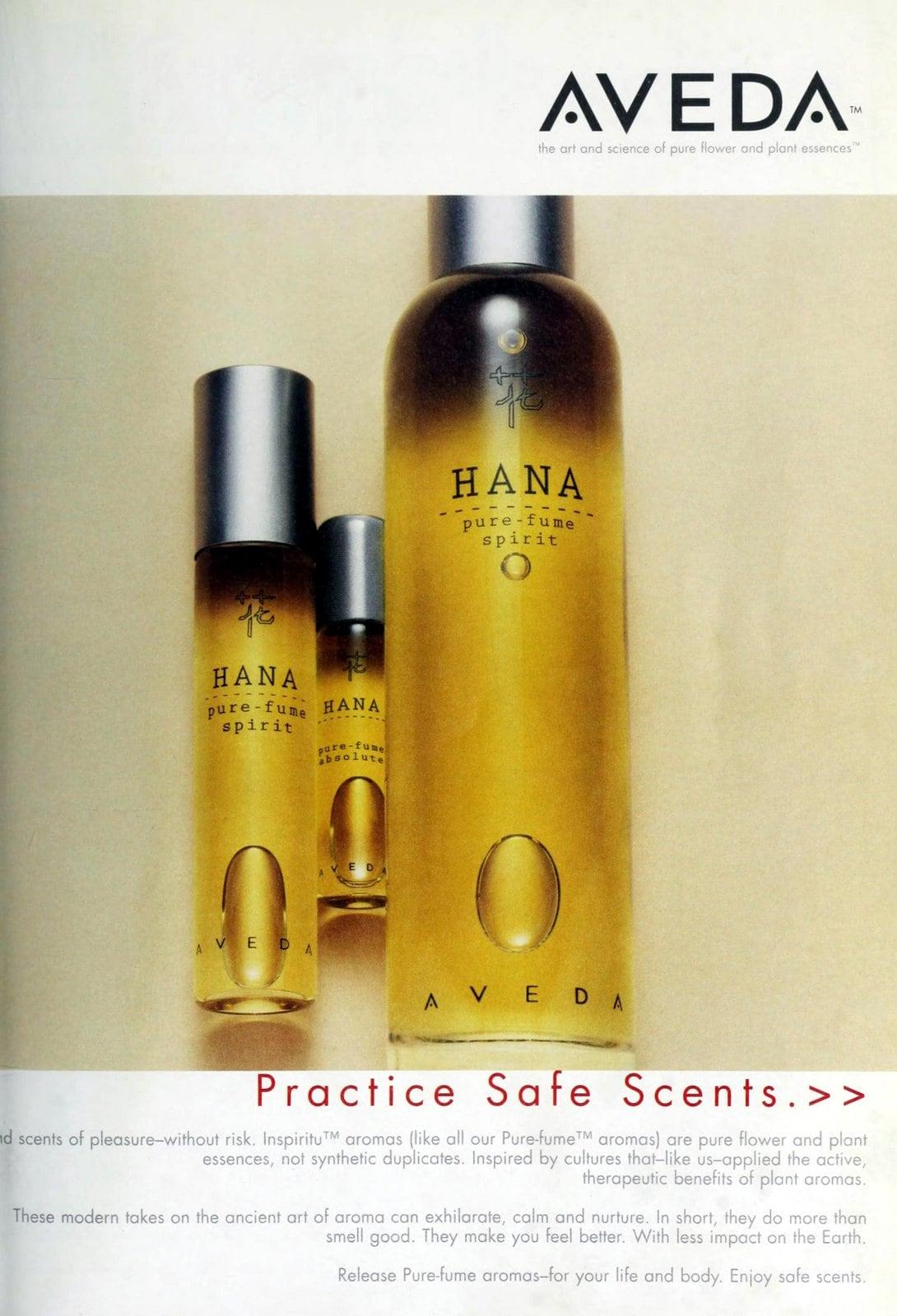 Hana fragrance from Aveda (1997) at ClickAmericana com