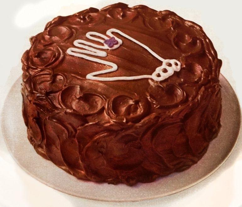 Hand-me-down chocolate cake