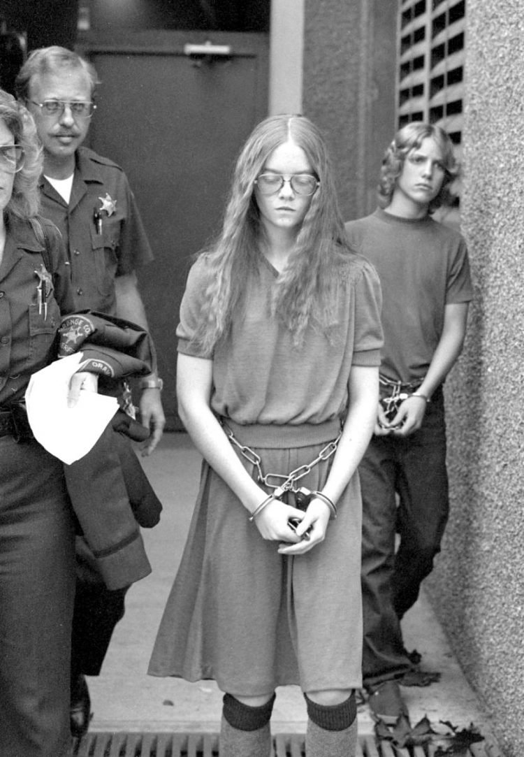 Handcuffs on for Brenda Spencer shooter from 1979