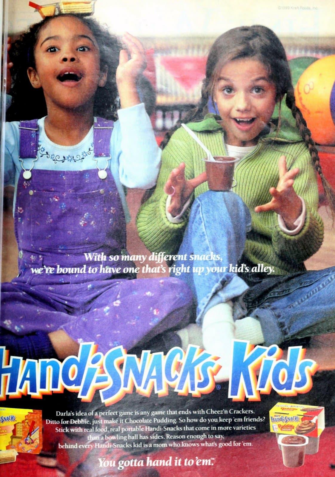 Handi-Snacks Kids chocolate pudding cups (1999)