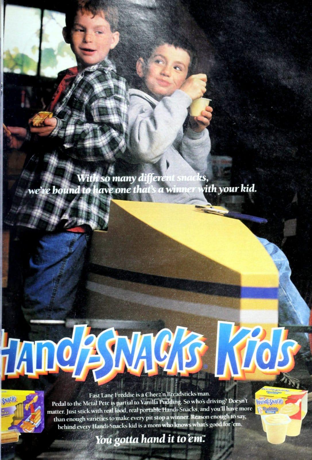 Handi-Snacks Kids vanilla pudding cups (1999)