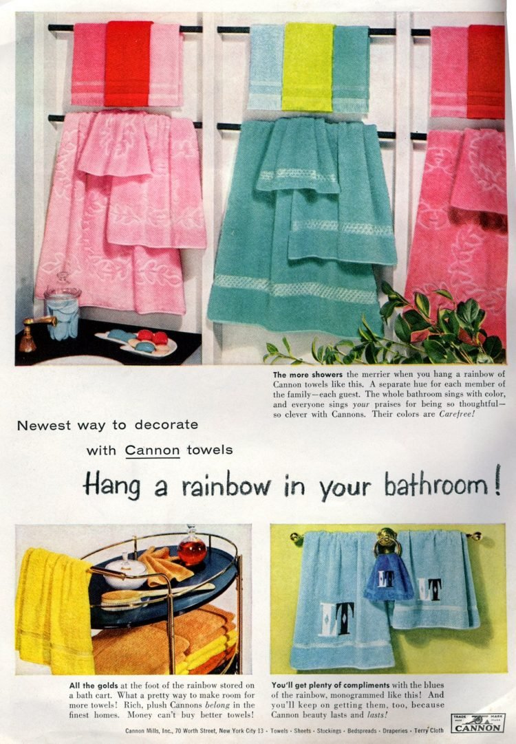 Hang a rainbow in your bathroom! (1956)