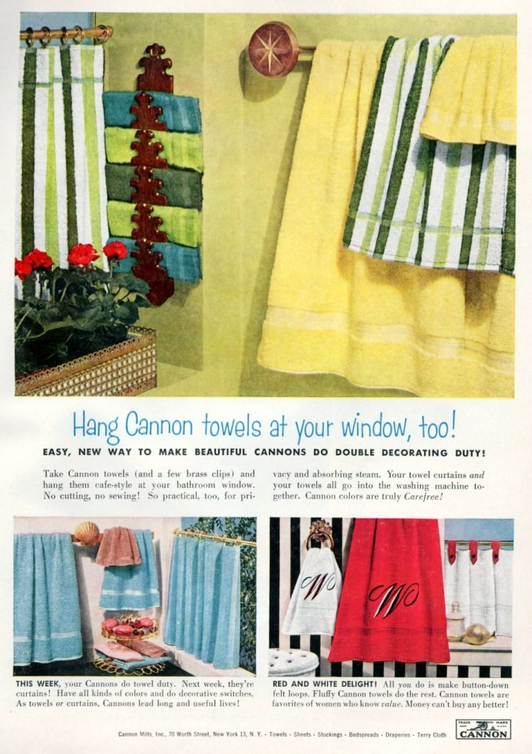 Hang towels on your window - 1956