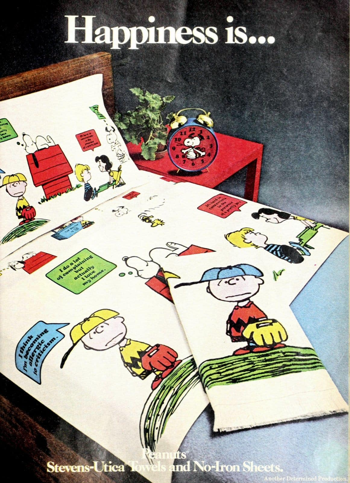 Happiness is - Vintage Snoopy Peanuts sheets (1972)