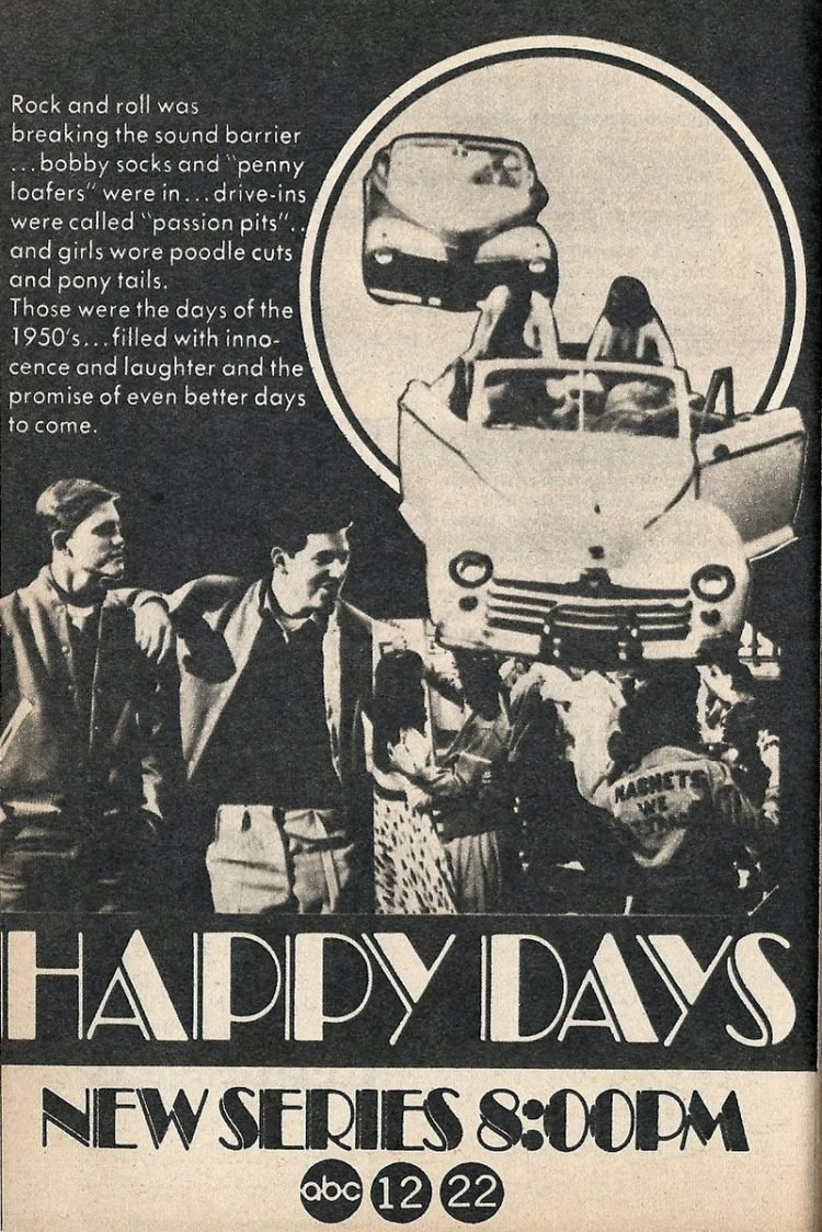 Happy Days debuts 1974