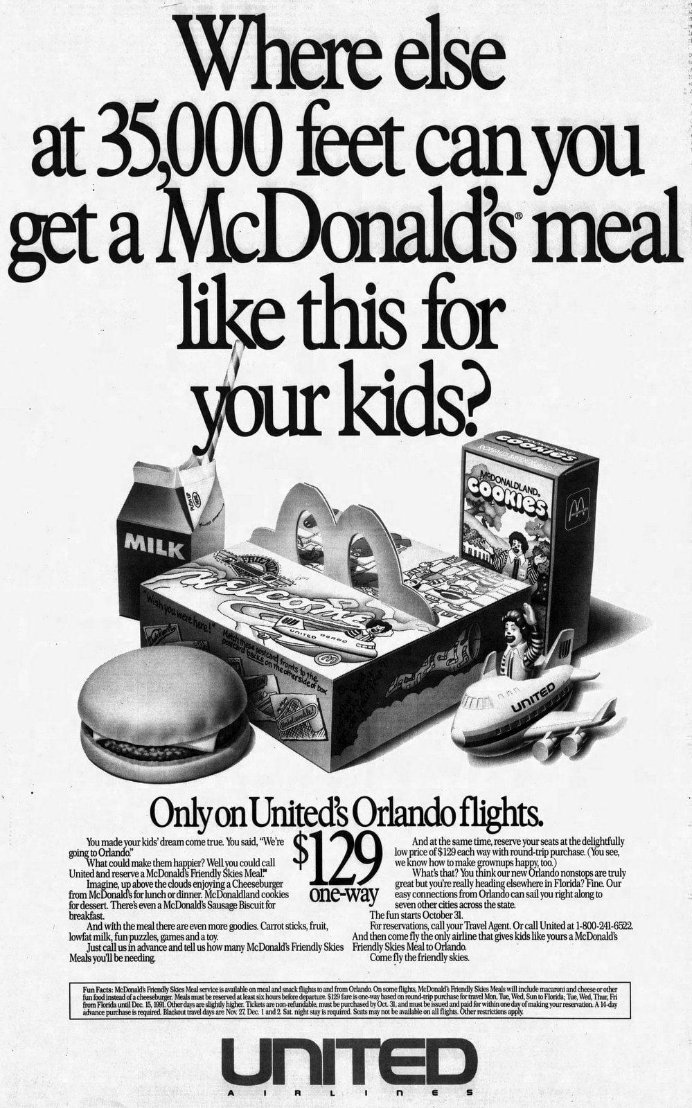 McDonald's Friendly Skies Meals