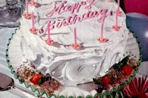 Happy birthday cake 1952