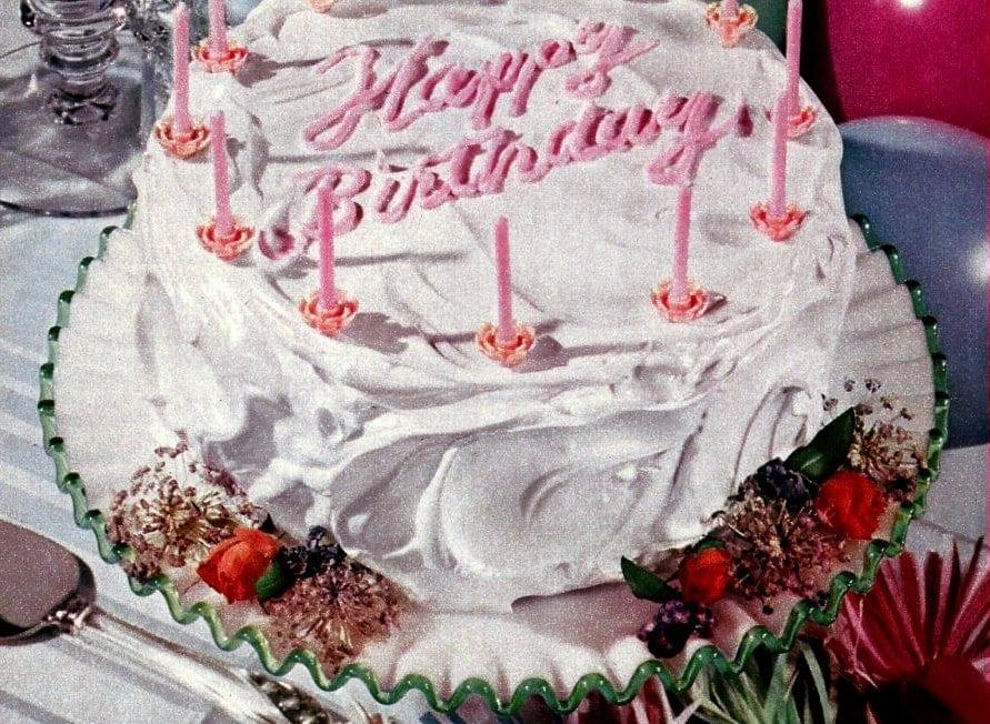 Happy birthday cake 1952