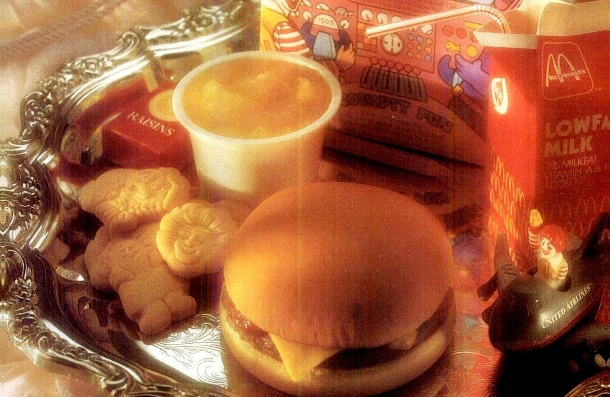 McDonald's Friendly Skies Meals on United Airlines (1991-1993)
