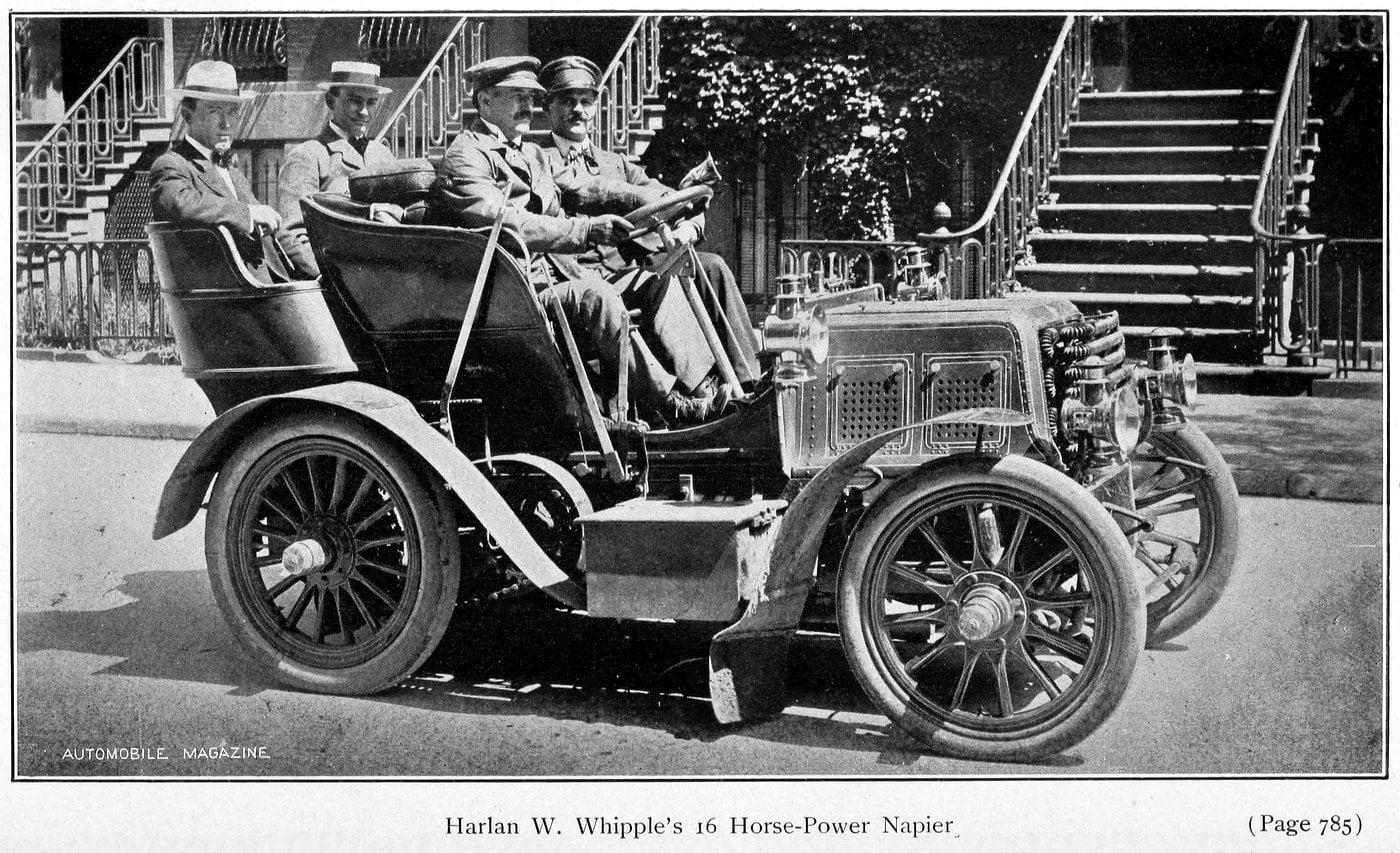 Harlan W. Whipples 16 horsepower Napier (1902)
