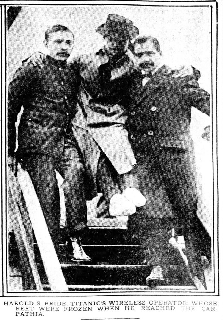 Harold Bride - Titanic's wireless officer after rescue