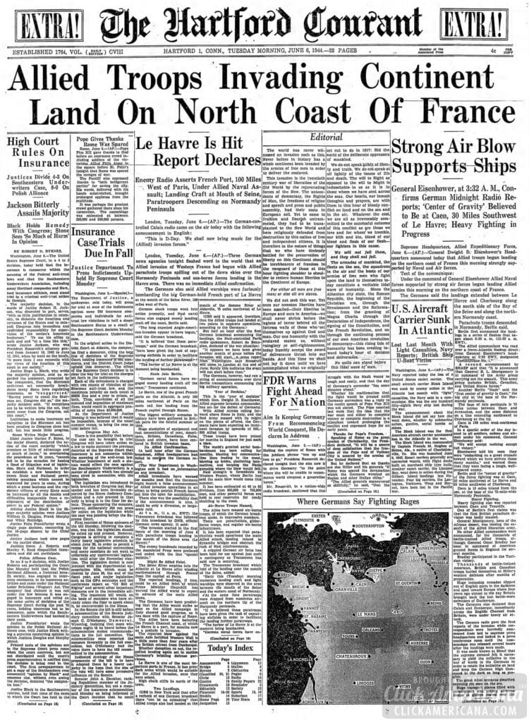 Allied Troops Invading Continent Land on North Coast of France