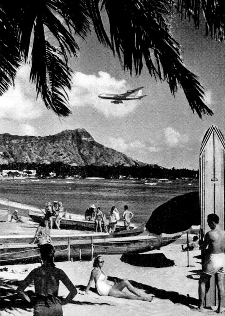 Hawaii Diamondhead Honolulu 1960