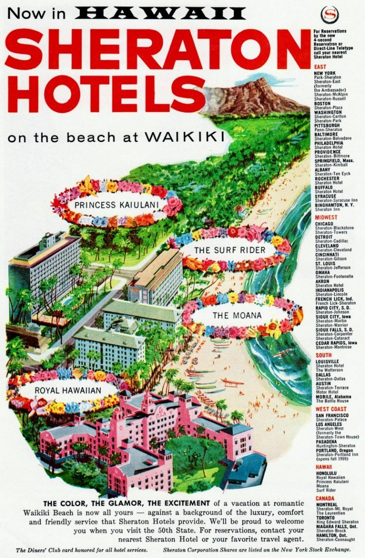 Hawaii - Sheraton hotels 1959