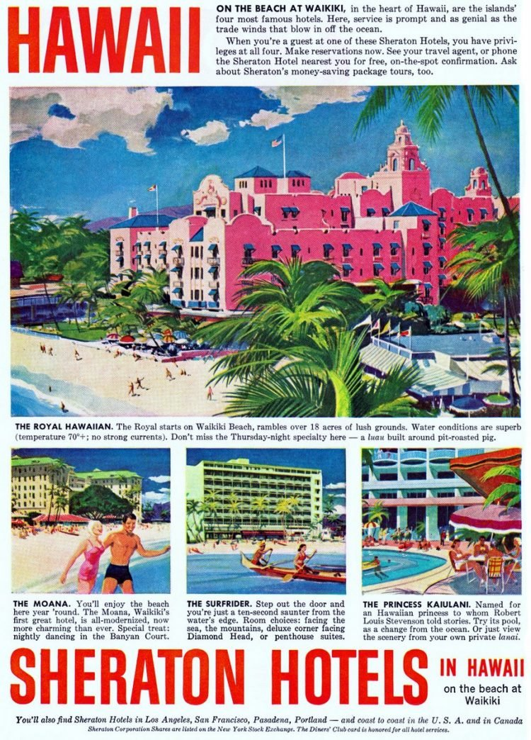 Vintage Hawaii in the '60s - Sheraton Hotels Waikiki Beach
