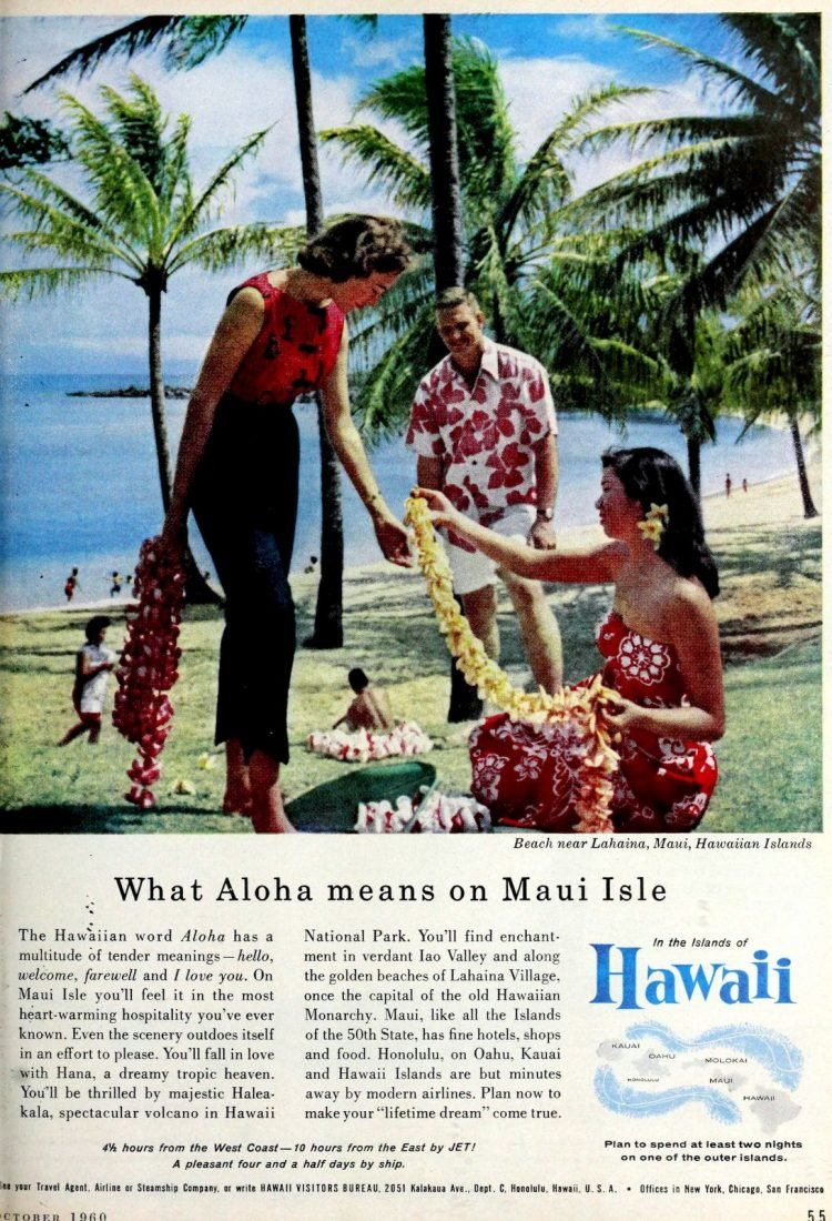 Hawaii in the 60s - Maui tourism