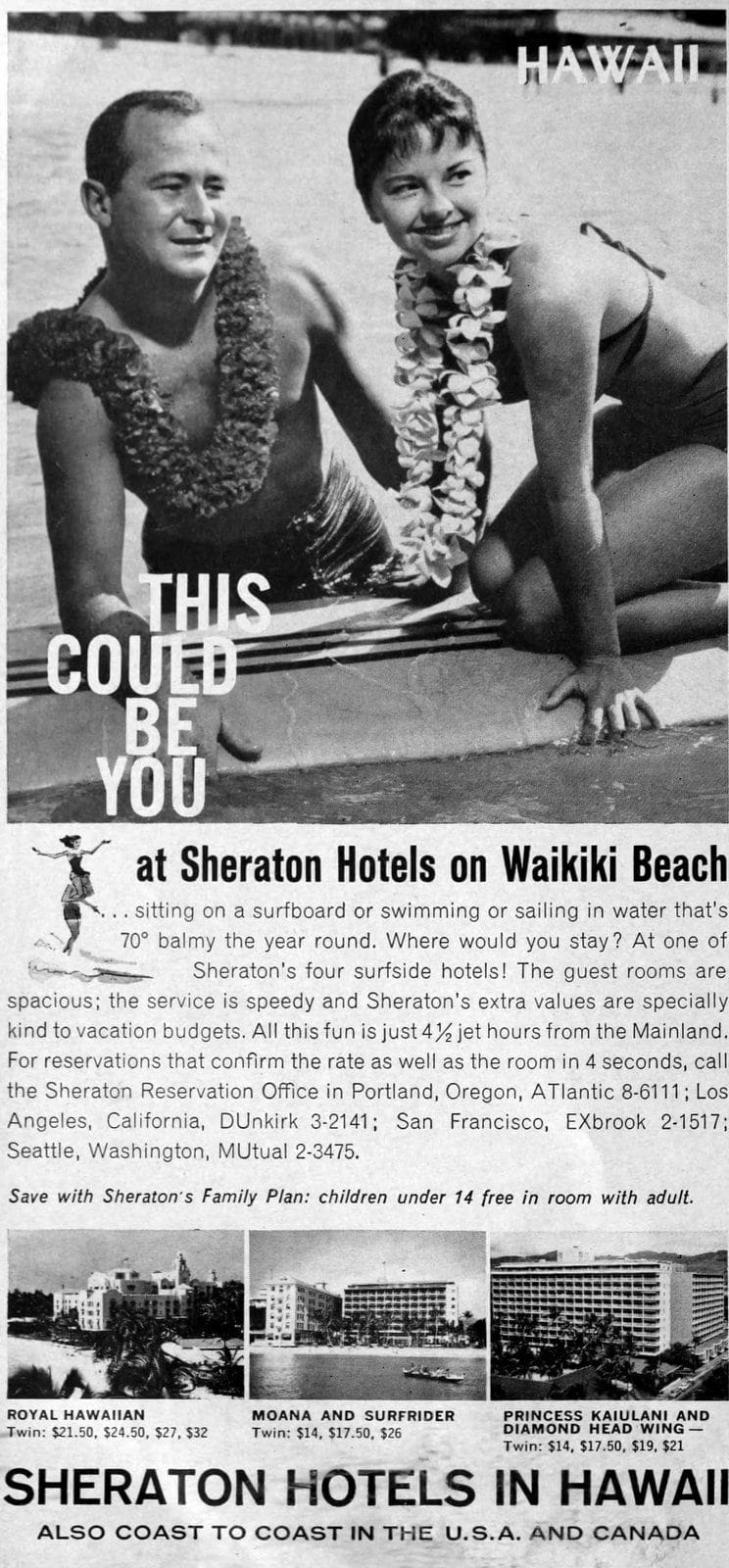 Hawaii in the 60s - Sheraton on Waikiki