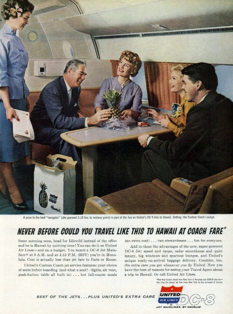 Hawaii travel by coach - United 1960