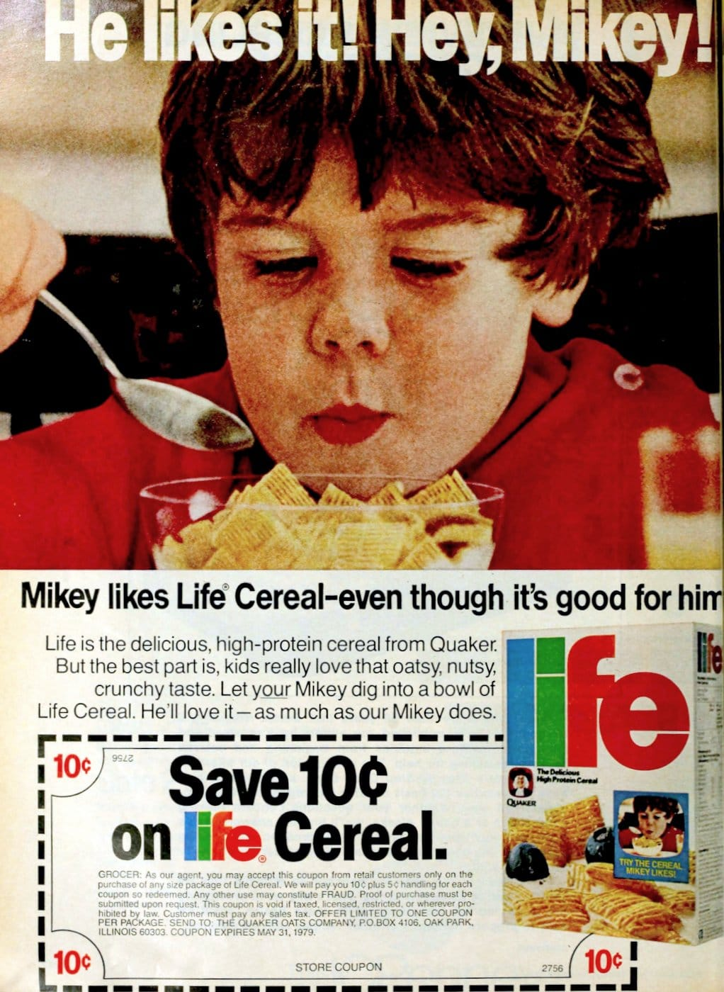 He likes it - Hey Mikey - Life cereal (1978)
